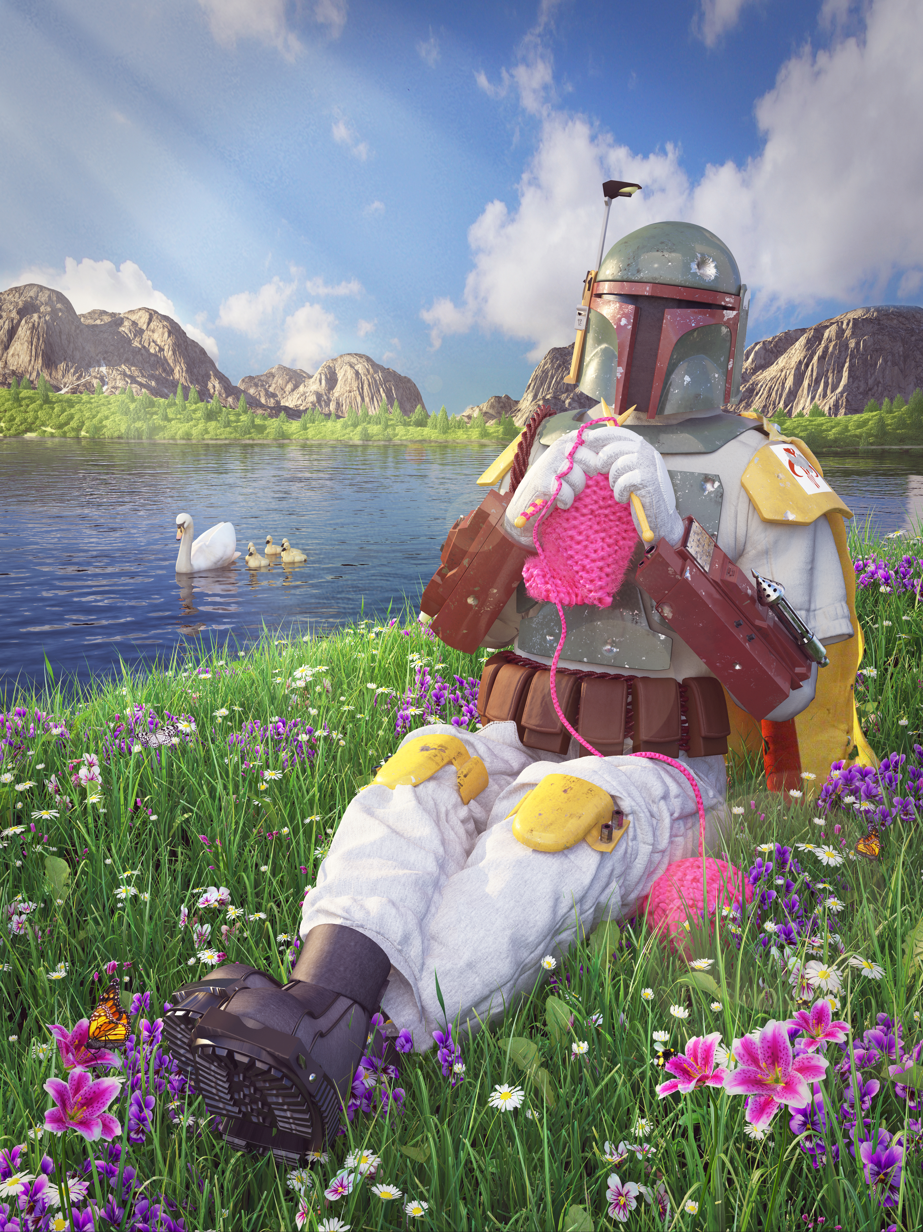 Boba Fett Knitting